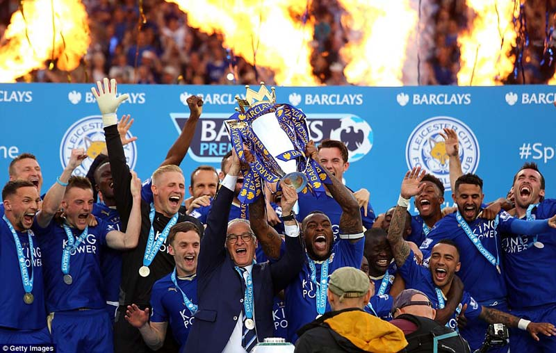 Newly-crowned-champions-Leicester-City-today-lifted-the-Barclays-Premier-League-trophy-in-front-of-a-packed-King-Power-Stadium.-Getty-Images