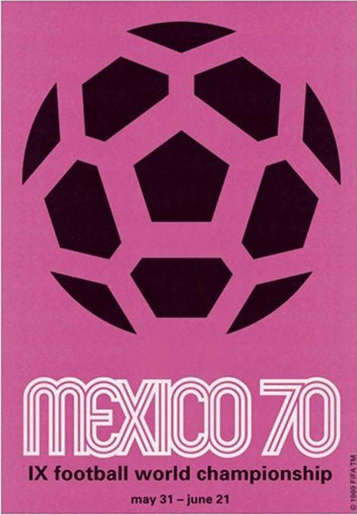 Cartel del Mundial, Campeonato del MUNDO FÚTBOL DE MEXICO 70. Vertical